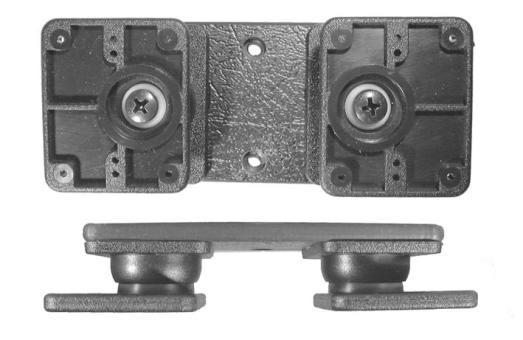 Brodit Montageplatte 213020 mit 2 Kugelgelenken