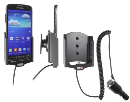 Brodit Gerätehalter 512545 für Samsung Galaxy S4 Active GT-I9295 (Aktiv mit Zigarettenanzünderanschluß)