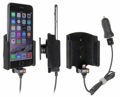 Brodit Gerätehalter 521660 für Apple iPhone 6 / 6S / 7 (aktiv mit Zigarettenanzünderanschluß und USB-Stecker)