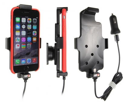 Brodit Gerätehalter 521662 für Apple iPhone 6 / 6S / 7 / 8 / SE 2.Gen 2020 (aktiv mit Zigarettenanzünderanschluß und USB-Stecker)
