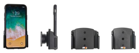 Brodit Gerätehalter 711013 für Apple iPhone X / Xs / XR / 11 / 11 Pro (passiv mit Kugelgelenk)
