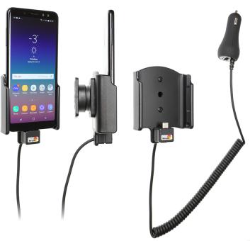 Brodit Gerätehalter 712035 für Samsung Galaxy A8 (2018) (aktiv mit Zigarettenanzünderanschluß)