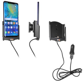 Brodit Gerätehalter 721096 für Huawei Mate 20 Pro (aktiv mit Zigarettenanzünderanschluß und USB-Stecker)