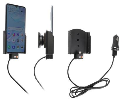 Brodit Gerätehalter 721120 für Huawei P30 (aktiv mit Zigarettenanzünderanschluß und USB-Stecker)