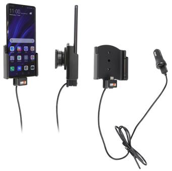 Brodit Gerätehalter 721121 für Huawei P30 Pro (aktiv mit Zigarettenanzünderanschluß und USB-Stecker)