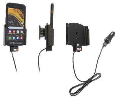 Brodit Gerätehalter 721133 für Samsung Galaxy Xcover 4s (aktiv mit Zigarettenanzünderanschluß und USB-Stecker)