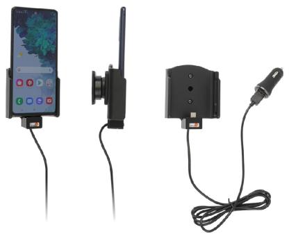 Brodit Gerätehalter 721240 für Samsung Galaxy S20 FE (SM-G780/SM-G781) (aktiv mit Zigarettenanzünderanschluß und USB-Stecker)