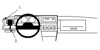Brodit ProClip 801913 für Volkswagen Polo