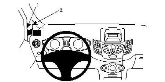 Brodit ProClip 804253 für Ford Fiesta