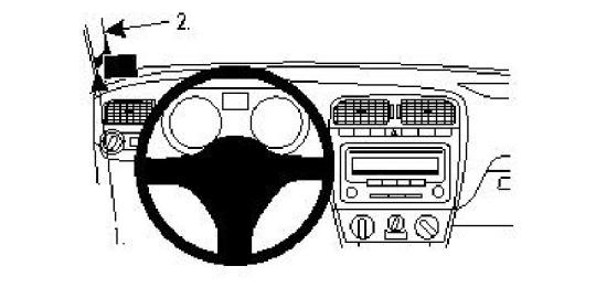 Brodit ProClip 804384 für Volkswagen Polo