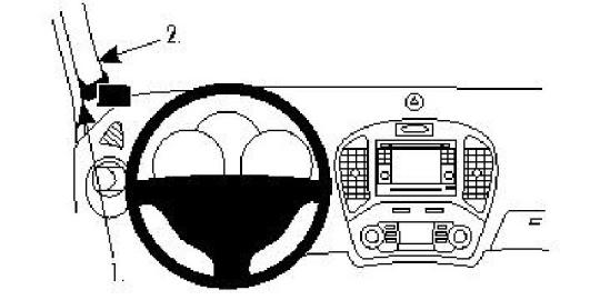 Brodit ProClip 804574 für Nissan Juke