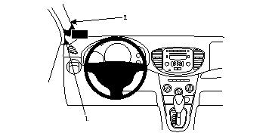 Brodit ProClip 804593 für Hyundai i10