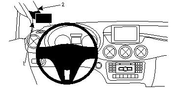 Brodit ProClip 804726 für Mercedes Benz B-Klasse