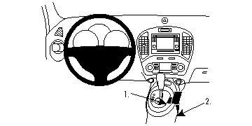Brodit ProClip 834708 für Nissan Juke