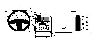 Brodit ProClip 852605 für Seat Arosa / Volkswagen Polo