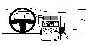 Brodit ProClip 852630 für Volkswagen Polo