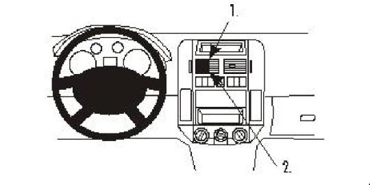 Brodit ProClip 853028 für Volkswagen Polo