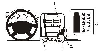 Brodit ProClip 853029 für Volkswagen Polo