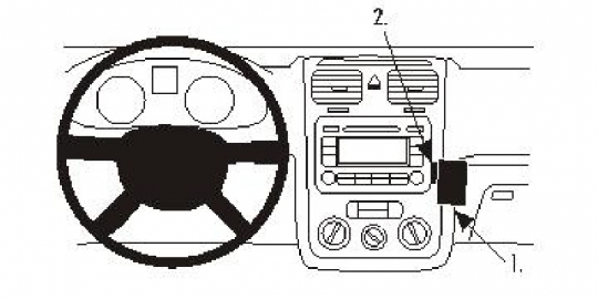 Brodit ProClip 853359 für Volkswagen Eos / Golf V / Golf V Variant / Jetta / Scirocco