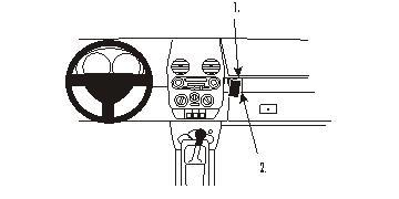 Brodit ProClip 853418 Montagekonsole für Volkswagen Beetle Baujahr 1998-2011