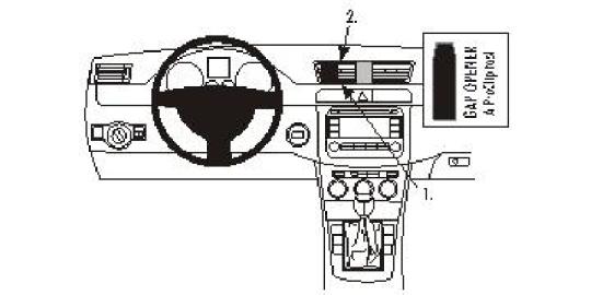 Brodit ProClip 853603 für Volkswagen Passat / Passat CC / Passat Alltrack