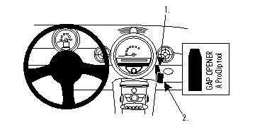 Brodit ProClip 854046 für Mini Cooper / Cooper Clubman / Cooper Convertible / Cooper Coupé / One / Roadster