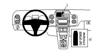 Brodit ProClip 854135 für Volkswagen Golf Plus / Tiguan