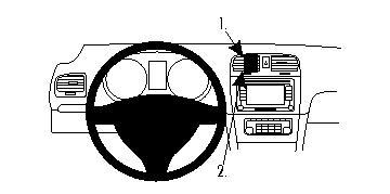 Brodit ProClip 854260 für Volkswagen Golf VI / Volkswagen Golf VI Variant