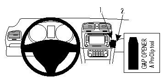 Brodit ProClip 854261 für Volkswagen Golf VI / Volkswagen Golf VI Variant