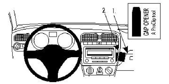 Brodit ProClip 854383 für Volkswagen Polo