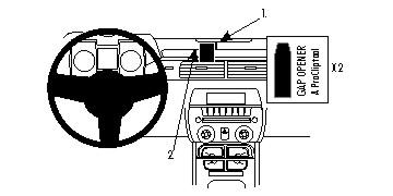 Brodit ProClip 854705 für Chevrolet Camaro