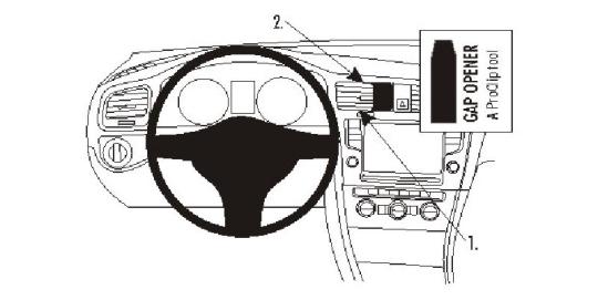 Brodit ProClip 854889 für Volkswagen Golf VII / Golf VII Sportscombi / Golf VII Variant / Golf Alltrack
