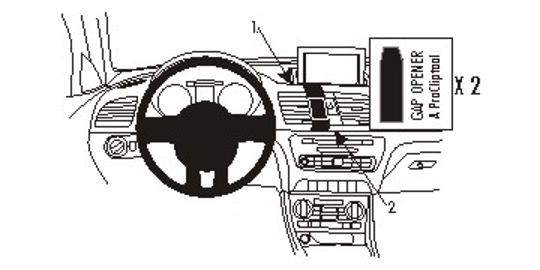Brodit ProClip 854950 für Audi Q3