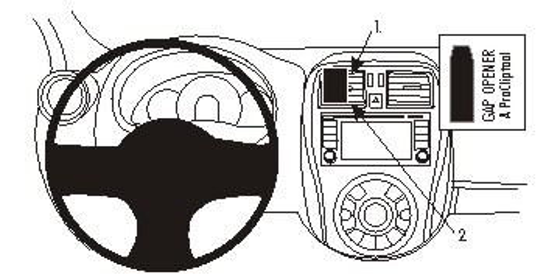 Brodit ProClip 854944 Montagekonsole für Nissan Micra Baujahr 2014-2017